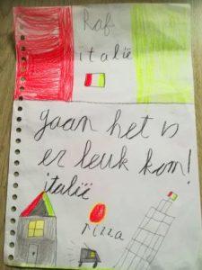 Kindertekening van Italië