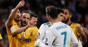 Ophef tijdens de Champions Leaguewedstrijd Real Madrid-Juventus die dramatisch eindigde