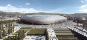 Het te bouwen Fiorentina-stadion