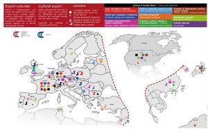 Tweetalige kaart van de Kamer van Koophandel van Milano Monza Brianza Lodi: export van Italiaanse cultuur over de wereld
