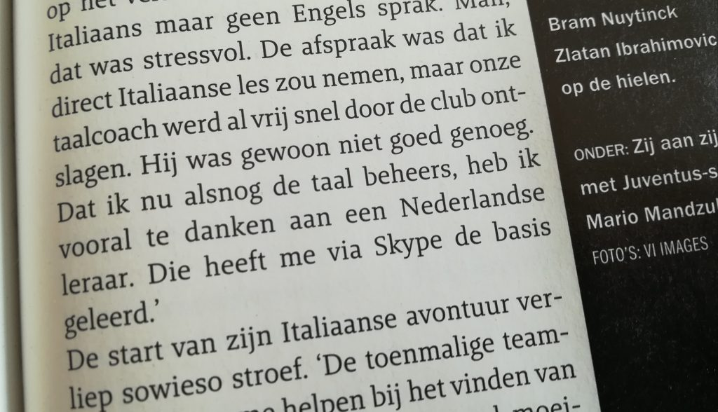 Artikel in Voetbal International