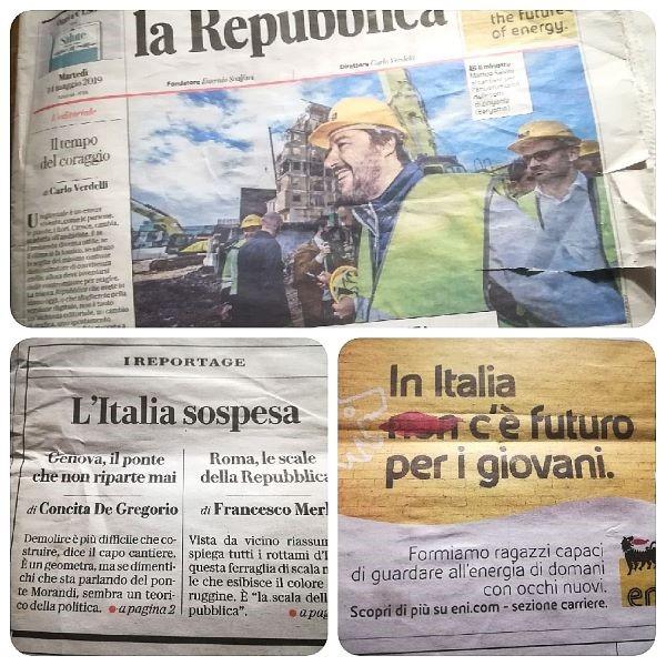 De recente cover van een Italiaans dagblad geeft weer welke thema's het maatschappelijk debat domineren