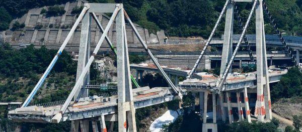 De ingestorte Morandi brug in Genua, aanleiding voor de landelijke controle van de Italiaanse bruggen en viaducten