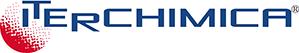Het logo van het Italiaanse bedrijf Iterchimica met de naam van het bedrijf in blauwe letters op een witte achtergrond