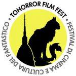 Logo van het filmfestival ToHorror in Turijn met de silhouetten van een kat en een iconisch gebouw, de Mole Antonelliana