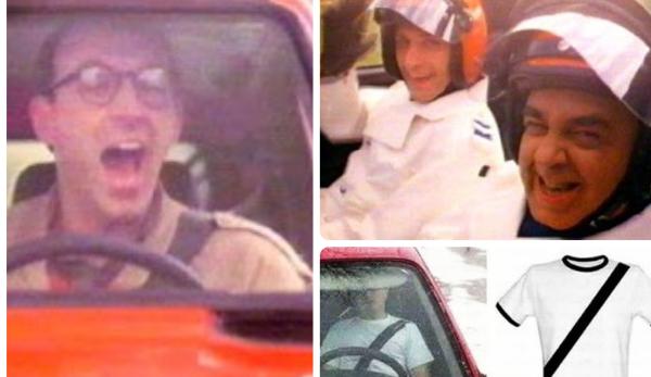 Stills van de autoreclame uit de jaren '80 voor de Fiat Panda