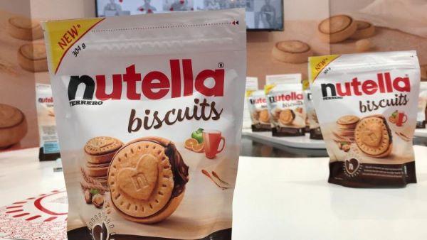 Een zakje met Nutella-koekjes