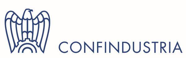 Logo van de werkgeversvereniging Confindustria die de Italiaanse industrie vertegenwoordigd