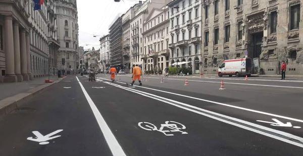 Brand new bike lanes in Milano